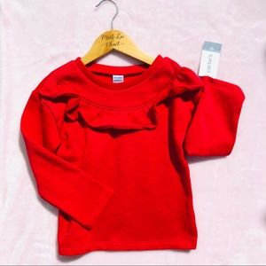 4T NWT Carters Red Ruffle Sweatshirt
